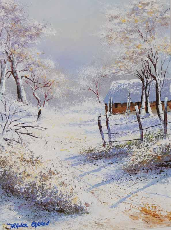 La neige paysages cont s par l 39 artiste franck carron l 39 artiste impressionniste du xxi si cle - La ren des neige ...